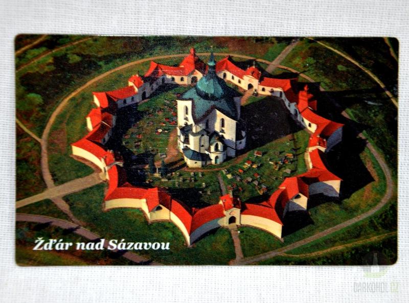Suvenýry Žďár nad Sázavou - Magnetka Zelená hora (nápis dole)