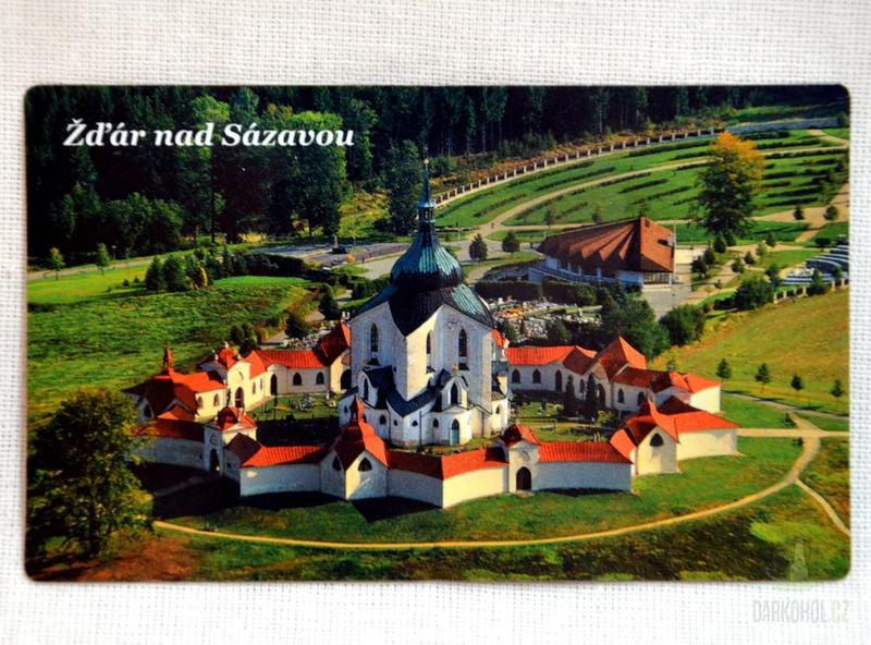 Suvenýry Žďár nad Sázavou - Magnetka Zelená hora (nápis nahoře)