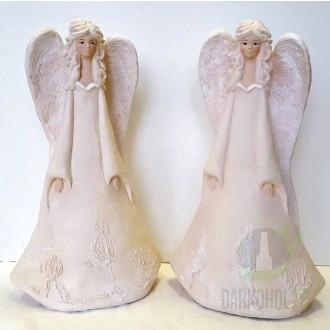 Hlavní kategorie - Anděl stojící - béžový, 31 cm, polystone
