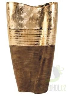 Hlavní kategorie - Váza konus zlatá 36 cm - keramika