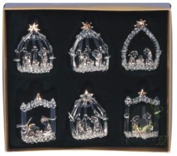 Sezónní dárky - Betlém sklo 5,5cm 1kus