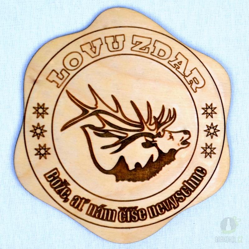 Hlavní kategorie - Dřevěný podtácek Lovu zdar