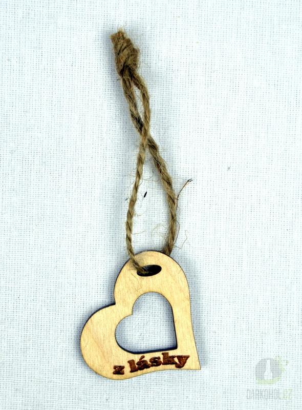 Hlavní kategorie - Srdíčko velké přírodní plné otvor-z lásky