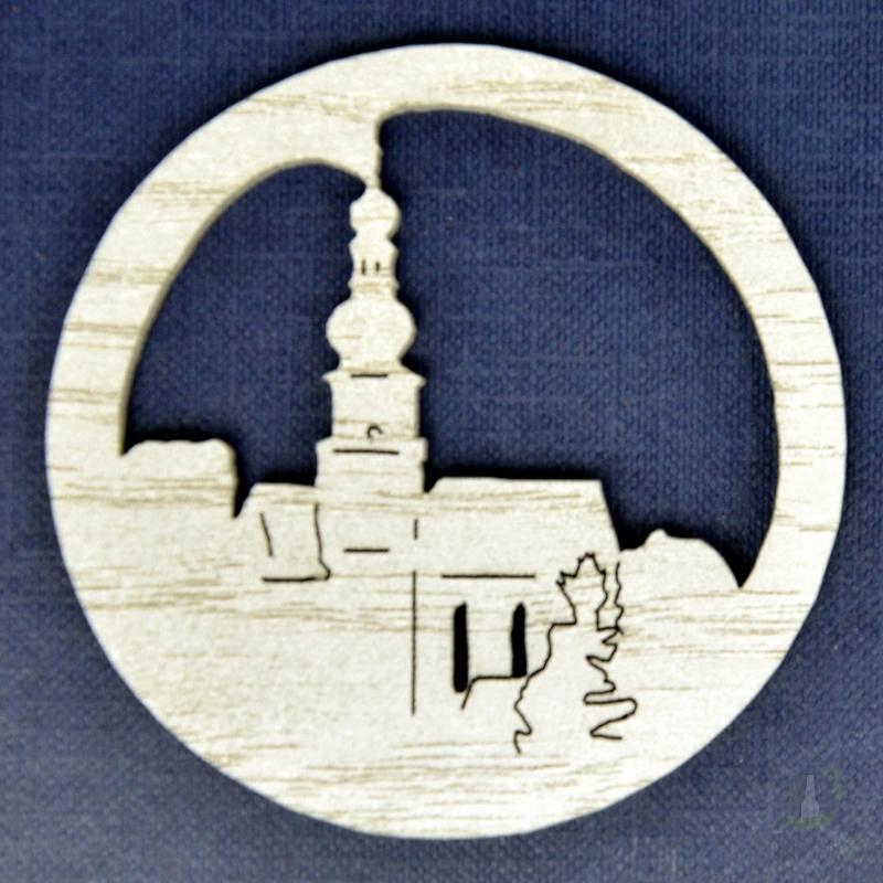 Suvenýry Žďár nad Sázavou - Ozdoba Kostel v kruhu bílí