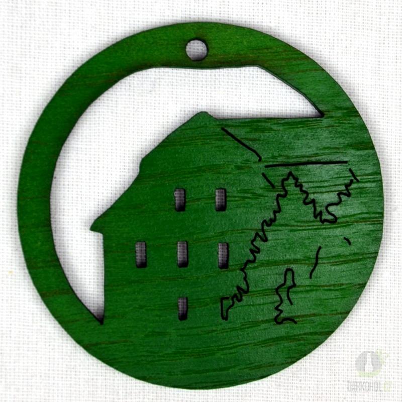Suvenýry Žďár nad Sázavou - Ozdoba Radnice v kruhu zelená