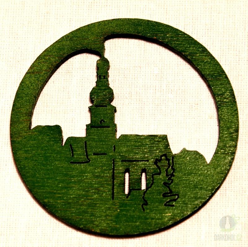 Suvenýry Žďár nad Sázavou - Ozdoba Kostel v kruhu zelený