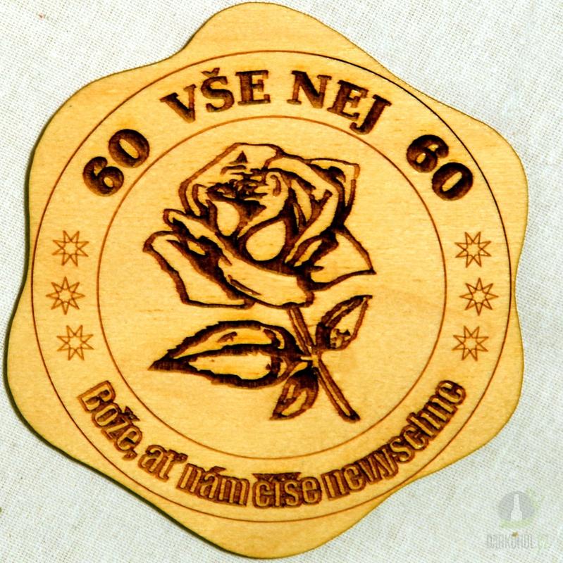 Hlavní kategorie - Dřevěný podtácek Vše nej 60 růže