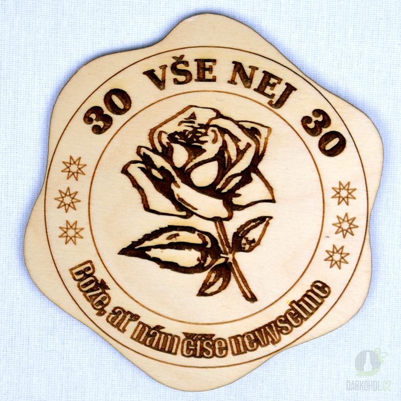 Hlavní kategorie - Dřevěný podtácek Vše nej 30 růže