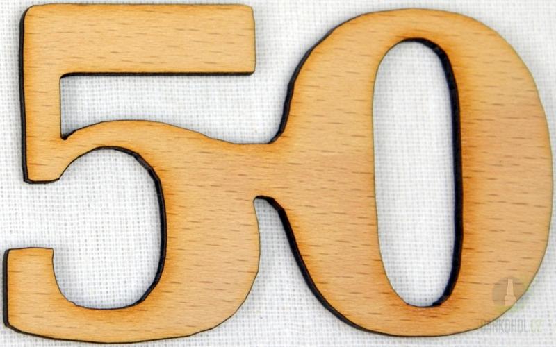 Hlavní kategorie - Ozdoba číslo 50 přírodní