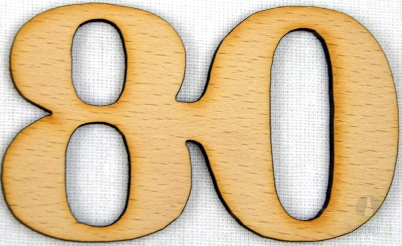 Hlavní kategorie - Ozdoba číslo 80 přírodní