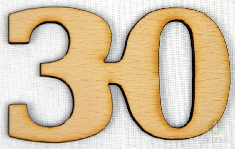 Hlavní kategorie - Ozdoba číslo 30 přírodní