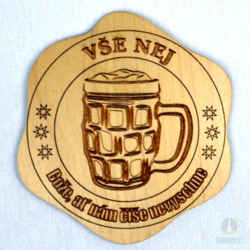 Hlavní kategorie - Dřevěný podtácek Vše nej půlitr pivo