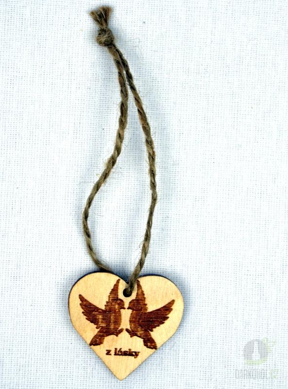 Hlavní kategorie - Srdíčko malé přírodní plné-holubice-z lásky