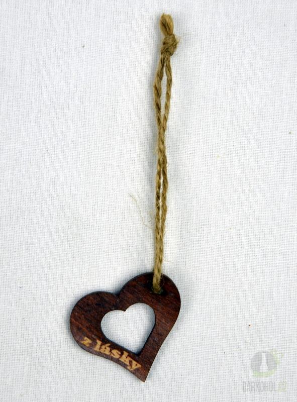 Hlavní kategorie - Srdíčko velké hnědé otvor-z lásky