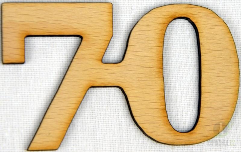 Hlavní kategorie - Ozdoba číslo 70 přírodní