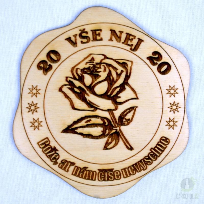 Hlavní kategorie - Dřevěný podtácek Vše nej 20 růže
