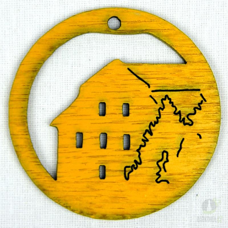 Suvenýry Žďár nad Sázavou - Ozdoba Radnice v kruhu žlutá