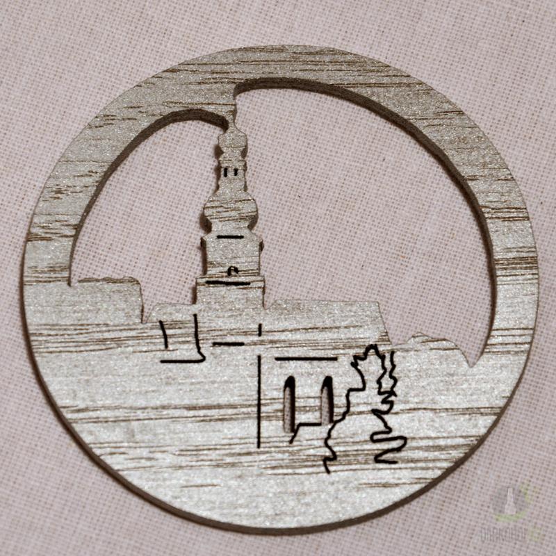 Suvenýry Žďár nad Sázavou - Ozdoba Kostel v kruhu stříbrný