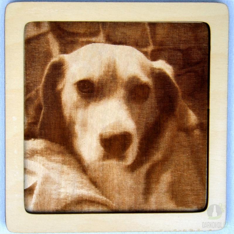 Hlavní kategorie - Dřevěný gravírovaný obrázek malý-labrador-poslední kus!
