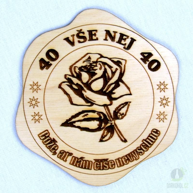 Hlavní kategorie - Dřevěný podtácek Vše nej 40 růže