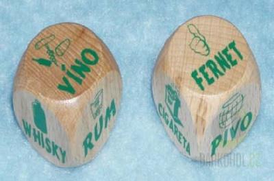 Hlavní kategorie - Dřevěná kostka-Alkohol