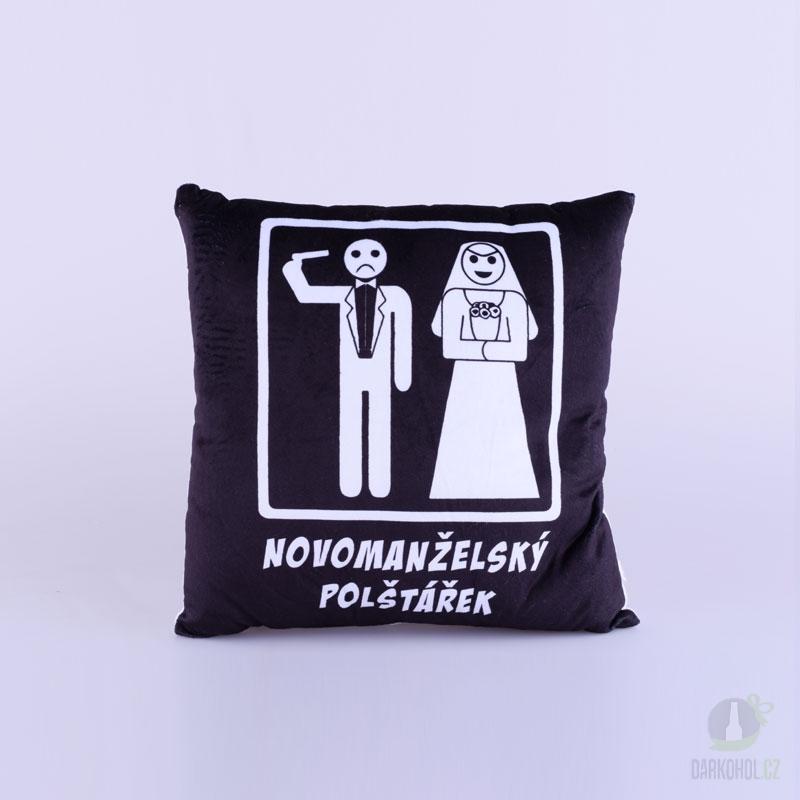 Hlavní kategorie - Polštář-Novomanželský černý-poslední kus!