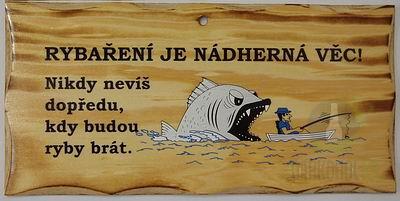 Hlavní kategorie - Žertovná tabulka nástěnná-Rybaření je nádherná věc