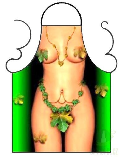 Hlavní kategorie - Zástěra barevná- Žena s listím