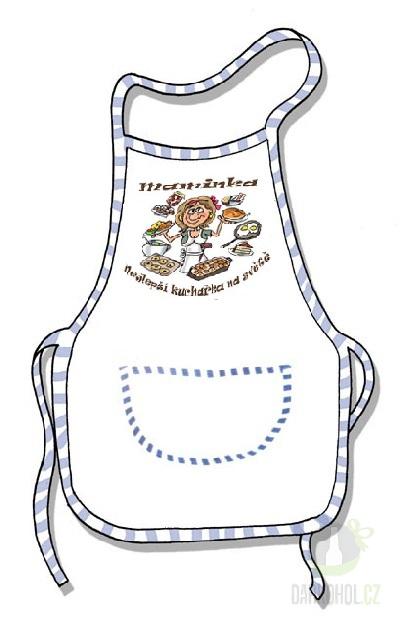 Hlavní kategorie - Zástěra bílá-Maminka nejlepší kuchařka na světě