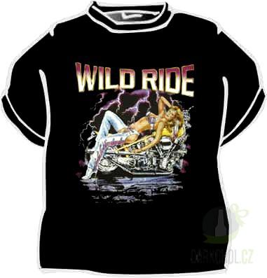 Hlavní kategorie - Triko motorka wild ride.černá