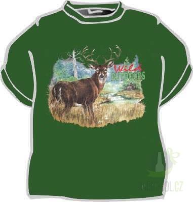 Hlavní kategorie - Triko Jelen wild zelená