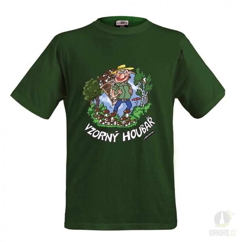 Hlavní kategorie - Triko Vzorný houbař .zelená