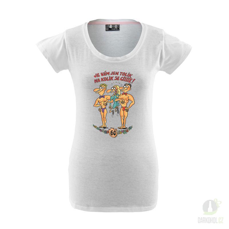 Hlavní kategorie - Triko Candy-Výročí žena 60 bílá-poslední kus!
