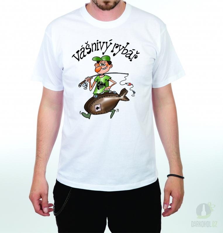 Hlavní kategorie - Triko Vášnivý rybář bílá
