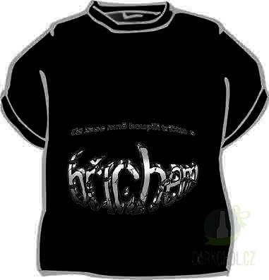 Hlavní kategorie - Triko Už zase mě koupili tričko s břichem.černá