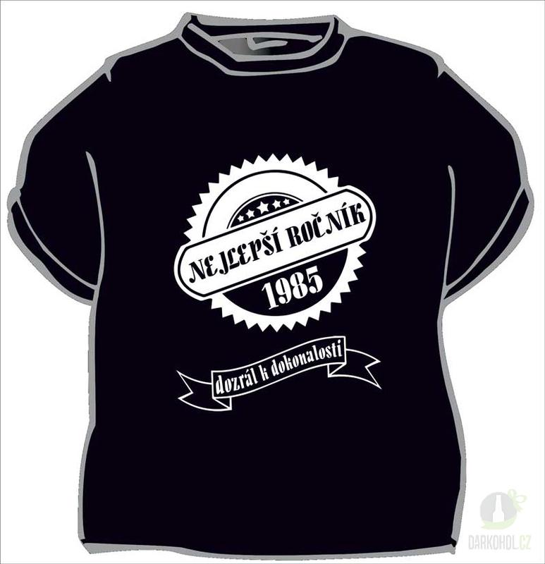 Hlavní kategorie - Triko -Nejlepší ročník 1985 černá
