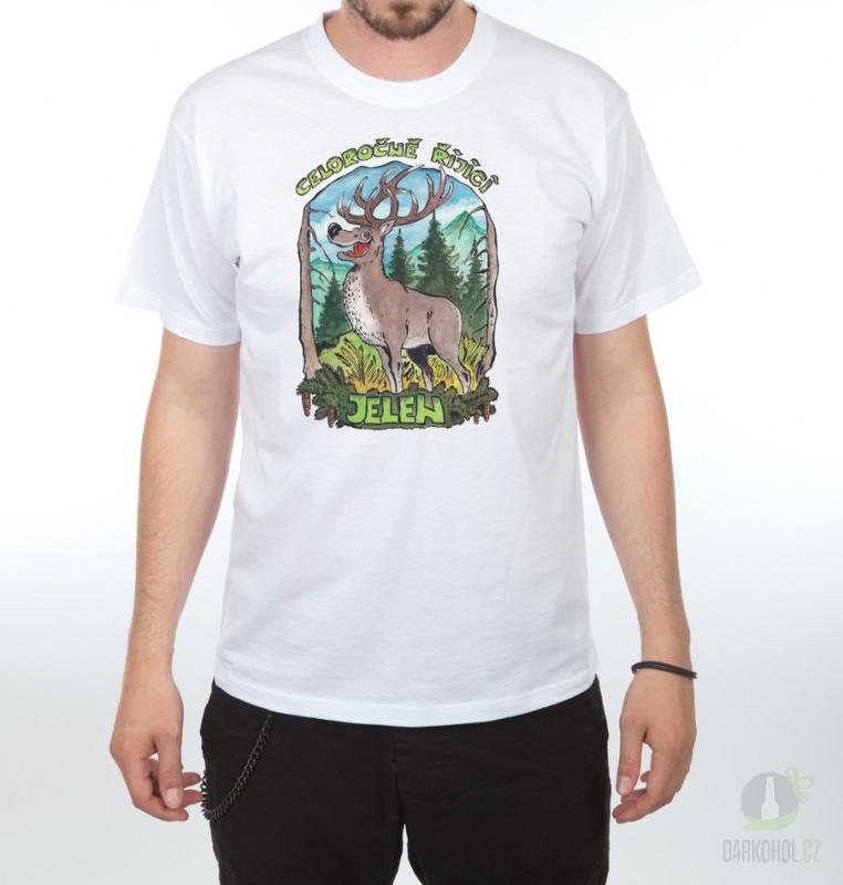 Hlavní kategorie - Triko Celoročně řijící jelen bílá