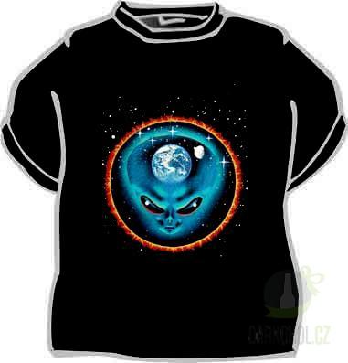 Hlavní kategorie - Triko Alien kruhová záře černá