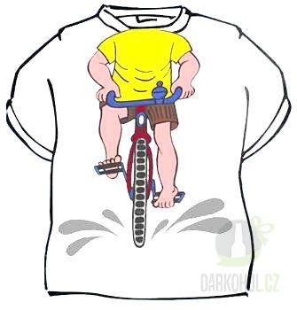 Hlavní kategorie - Triko Cyklista bílé