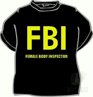 Hlavní kategorie - Triko FBI female... černá-poslední kus!