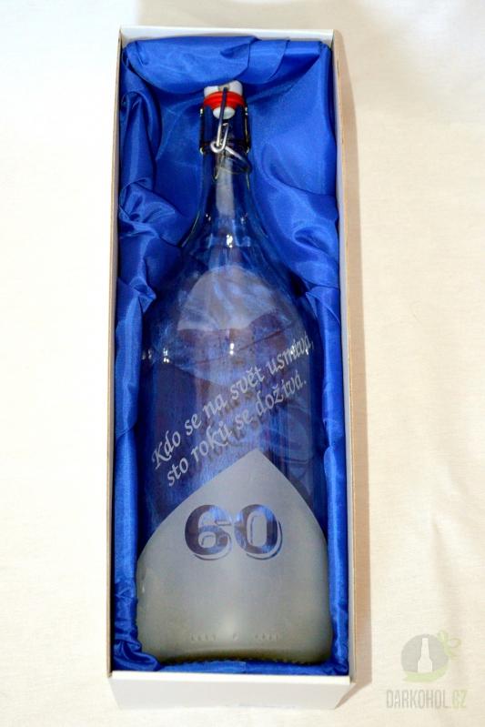 Hlavní kategorie - Láhev pískovaná Renana 2 l 60 let