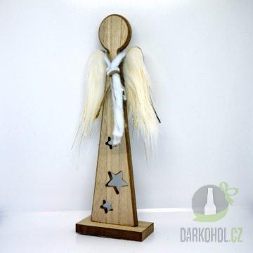 Hlavní kategorie - Anděl dřevěný peří křídla
