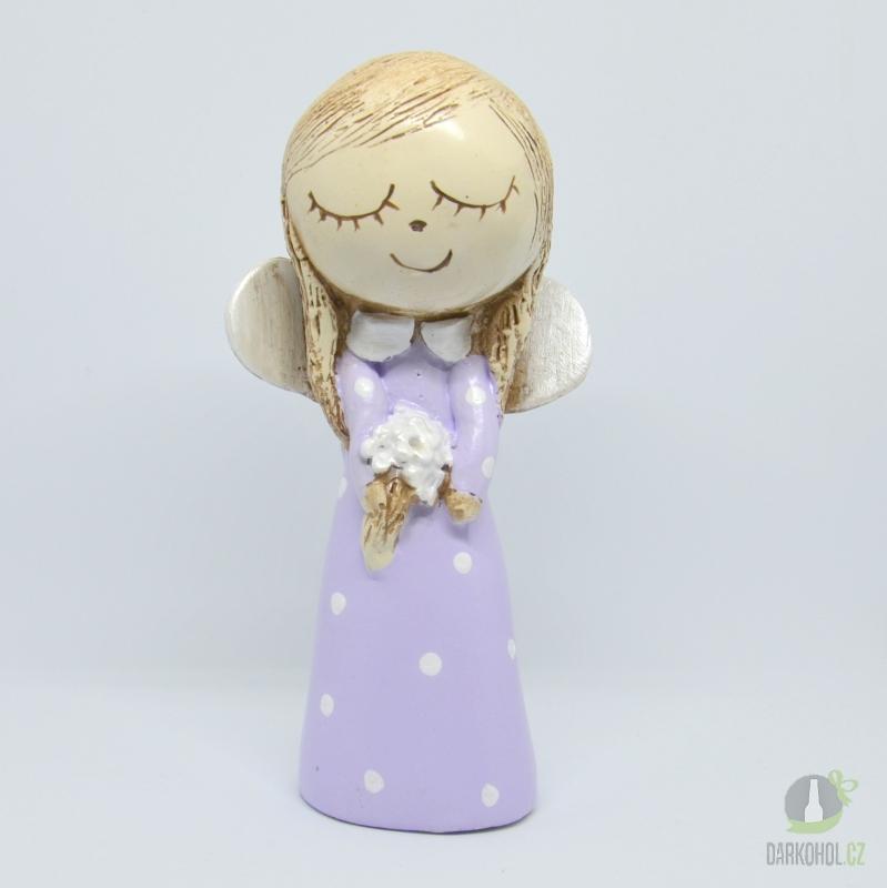 Hlavní kategorie - Anděl holčička fialová