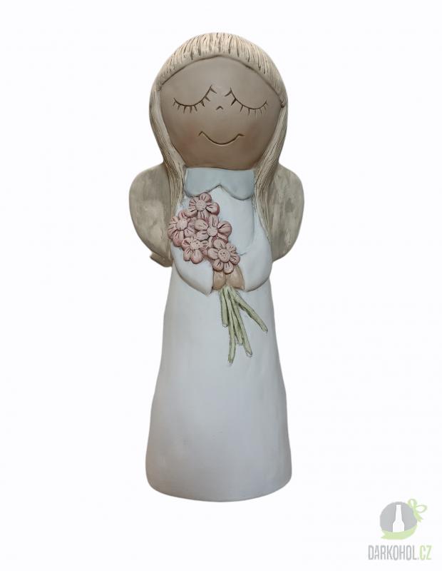 Hlavní kategorie - Dekorativní soška andílka Amálka 39cm