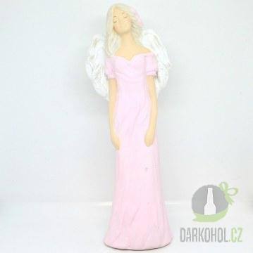 Hlavní kategorie - Anděl květy ve vlasech růžový