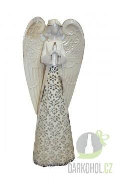 Hlavní kategorie - Anděl plech krajka 48cm béžový