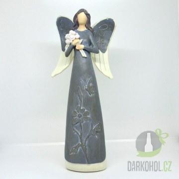 Hlavní kategorie - Anděl poly šedý 30cm