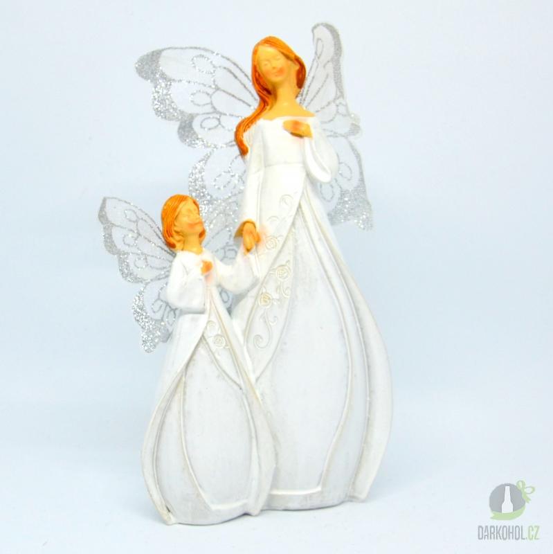 Hlavní kategorie - Anděl  Cecilie s holčičkou, 20cm, polystone