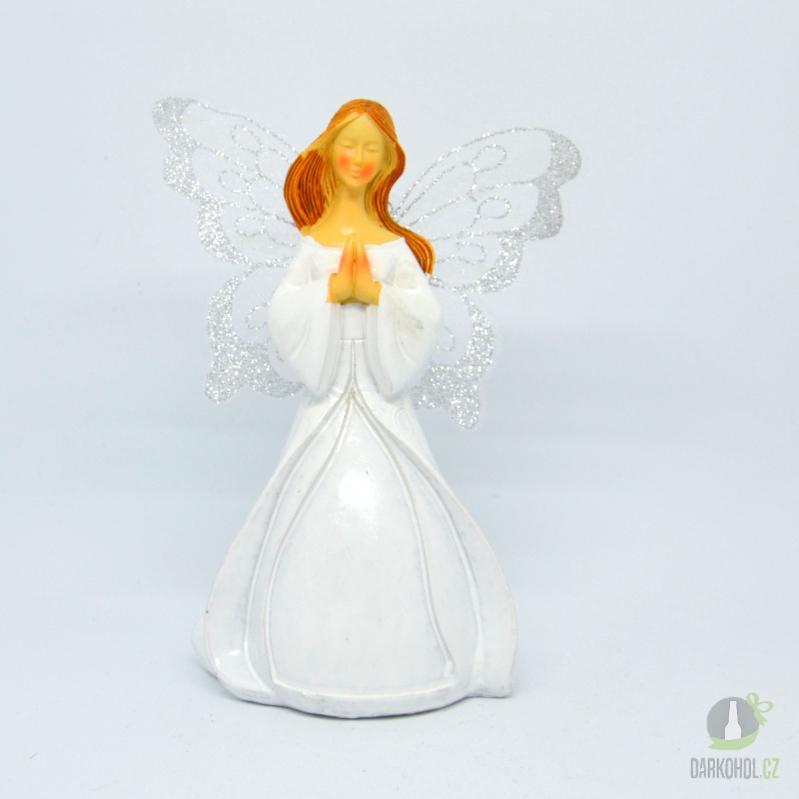 Hlavní kategorie - Anděl Romana klečící, 17cm, polystone