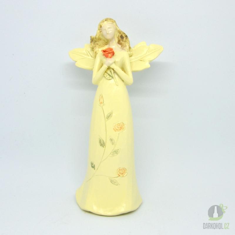 Hlavní kategorie - Anděl Sára červená růže 20 cm